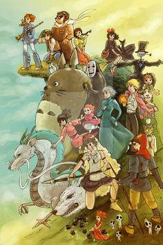 Studio Ghibli Homage by Tsubasa-No-Kami.deviantart.com on @DeviantArt