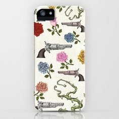 Sweet Guns and Roses iPhone Case by Belle13 - $35.00