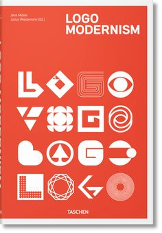 Examine the distillation of modernism in graphic design with this collection of nearly 6,000 logos from 1940 to 1980: Logo Modernism by TASCHEN Books..