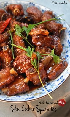 Slow Cooker Spareribs with Preserved Plum | Melting with extraordinary plum & citrus enrichment #Chinese