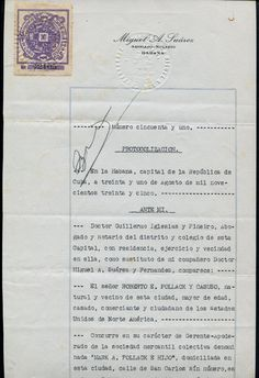 Jubilication Notarial stamp use on the document (1935)