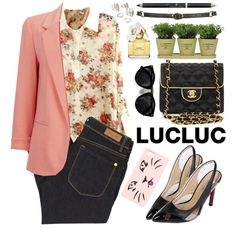 Lucluc by oshint on Polyvore featuring moda, Wallis, Paul by Paul Smith, Chanel, Forever 21, Kenzo, Topshop, Marc Jacobs, Torre & Tagus and Talula