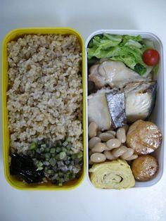 Steamd Spanish Mackerel   brown rice  20121101 Lunch