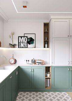 7 Splendid Clever Hacks: Mobile Home Kitchen Remodel kitchen remodel with island modern.Kitchen Remodel With Island Modern apartment kitchen remodel interiors.Small U Shaped Kitchen Remodel. Kitchen Paint, Kitchen Tiles, Diy Kitchen, Kitchen Decor, Kitchen Colors, Kitchen White, Decorating Kitchen, Kitchen Shelves, Kitchen Small