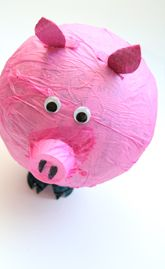 Make your own pinata - paper mache on a balloon, make a door, pop balloon, fill with candy, tape door shut.