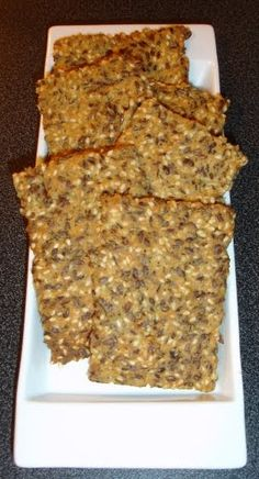 Here is a great recipe for low-carb bread / crackers,that hardlyhas anycarbs in them! This is actually flat bread, crackers (call them ...