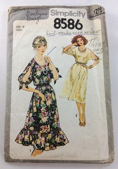 Simplicity Sewing Pattern 8586 Womens Misses Pullover Dress