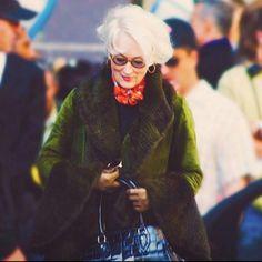 Meryl Streep as Miranda Priestly 2006 The Devil Wears Prada Meryl Streep, Miranda Priestly, Devil Wears Prada, Mother And Father, Celebs, Celebrities, Best Actress, On Set, Costume Design