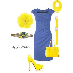 Love the blue and yellow combo