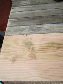 How to age new wood with steel wool and apple cider vinegar.
