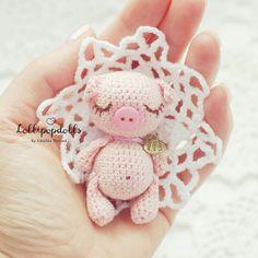 Малышка Хрю свинка амигуруми #амигуруми #схемыамигуруми #игрушкикрючком #amigurumipattern