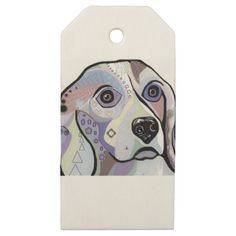 Beagle DENIM Colors Wooden Gift Tags - dog puppy dogs doggy pup hound love pet best friend