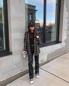 Simple Outfits, Casual Outfits, Autumn Street Style, Teen Fashion Outfits, Girl Fashion, Fall Winter Outfits, Winter Clothes, Types Of Fashion Styles, Aesthetic Clothes