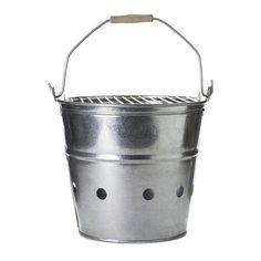 galvanized steel portable beach bucket via Gardenista