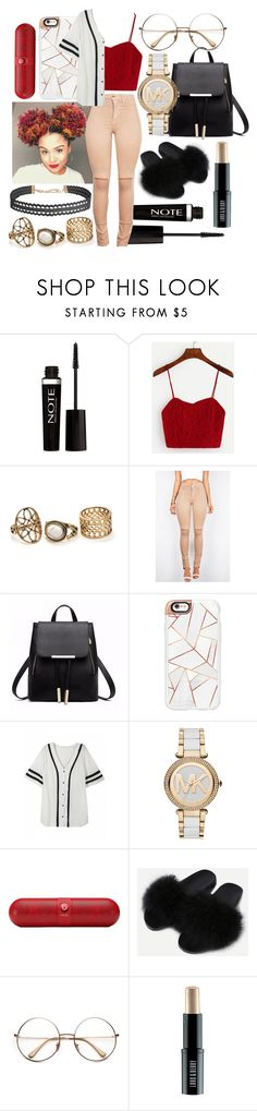 """""""Untitled #583"""" by the-fashion-fantasy ❤ liked on Polyvore featuring Forever 21, Casetify, Michael Kors, Beats by Dr. Dre, Lord & Berry, Humble Chic, red, Leather, trend and choker"""
