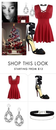 """Party Style"" by denibrad ❤ liked on Polyvore featuring Doublju, Carolina Herrera, Christian Louboutin, Cara, Miss Selfridge and MICHAEL Michael Kors"