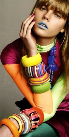 would love to wear a stack of bracelets. think it would drive me nuts, though :(