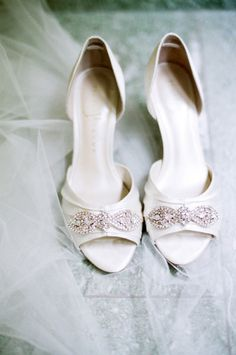 White satin shoes with a touch of bling: http://www.stylemepretty.com/destination-weddings/2015/02/05/intimate-switzerland-destination-wedding/ | Photography: Amanda Nippoldt - http://www.amandanippoldt.com/