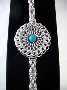Turquoise Amulet Chainmaille Bracelet by GypsyGrove on Etsy, $18.00