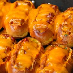 Cheesy BBQ Chilli Hot Dogs - Twisted