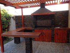 Pergola Connected To House Outdoor Pergola, Backyard Pergola, Outdoor Tables, Gazebo, Outdoor Decor, Parrilla Exterior, Casa Loft, Casa Patio, Outdoor Kitchen Bars
