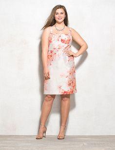 Db RSVP Plus Size Floral Sheath Dress | dressbarn
