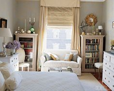 Double Up Whenever Possible: If you have room for an extra dresser or bookcase, use it! Even if you're not quite sure what you'll store in the second piece of furniture, you should still take advantage of the space. Chances are there will be something you'd like to stow away.  Photo courtesy of Elle Decor