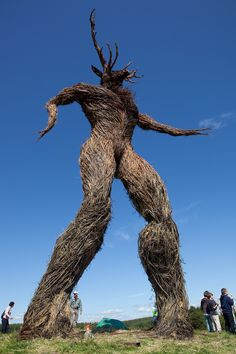Wickerman sculpture at the Wickerman Festival in Scotland. Wickerman Festival, Wicca, Green Man, Gods And Goddesses, British Isles, Photos, Pictures, Sculpture Art, Outdoor Sculpture