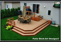 PATIO DECK ART DESIGNS OUTDOOR LIVING traditional deck - Deck design for small backyard