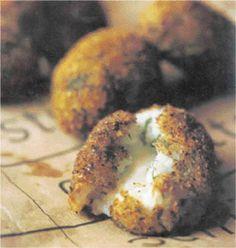 Suppli al telefono: risotto balls stuffed with mozarella. We made ...