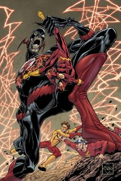 The Flashes vs Reverse Flash by Ethan Van Sciver