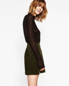 LACE SWEATER-Sweaters-KNITWEAR-WOMAN   ZARA Canada