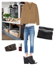Down to the café by kinang on Polyvore featuring polyvore, fashion, style, Michael Kors, 7 For All Mankind, C/MEO COLLECTIVE, Marie Turnor, Lanvin and Christian Dior