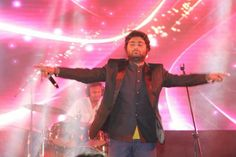 Live concert given by Arjit Singh with Durgesh Sound and Lighting System Indore in an Event.