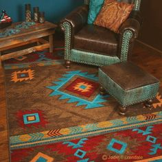 Western Style Area Rugs Westliche Teppiche Greenarearugs Redarearugs Western Style Area Rugs Living Room Area Rugs On Hardwood Area Rugs Area Rugs Circle - Image Upload Services Southwestern Home Decor, Southwestern Area Rugs, Southwestern Decorating, Southwest Style, Southwestern Ranch, Native American Decor, Native American Fashion, Native American Bedroom, Turquoise Rug