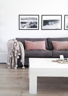 My living room. Pillows from h&m homemade coffee table.