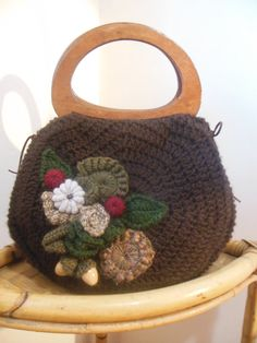 Bag in wool brown Colors of the Forest Borsa in di JustForYouhm