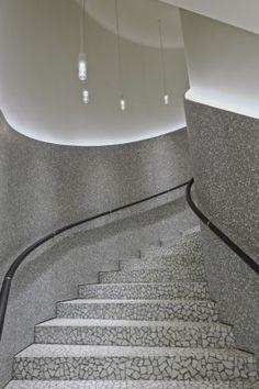 Terrazzo stairs at Valentino