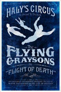 Flying Graysons. Robin, Batman, Dick Grayson art poster