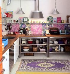 Интерьер кухни в стиле бохо