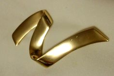 Large Gold Tone Z Pin/Brooch Large Gold Tone Pin by Beadgarden55, $15.00