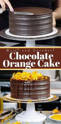 Cake Filling Recipes, Frosting Recipes, Cake Recipes, Chocolate Desserts, Chocolate Frosting, Chocolate Orange Cakes, Decadent Chocolate Cake, Decadent Cakes, Chocolate Flavors