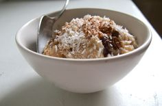 Coconut Milk and Brown Rice Pudding