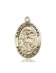 St. Michael the Archangel Medal (14kt Gold) by Bliss | Catholic Shopping .com