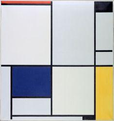 Piet Mondriaan, Tableau I, 1921, Oil on canvas