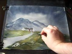 Learn Watercolor Painting 'Scottish Highland Cottage' Part 2 - YouTube