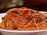 BBQ Spaghetti recipe courtesy The Neelys! This was the first recipe from their show that I tried ... delish.