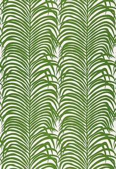 Zebra Palm Linen Print Schumacher Fabric
