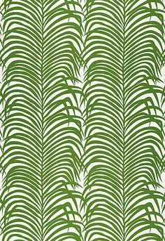 re:pin BKLYN contessa :: f. schumacher :: zebra palm :: linen fabric