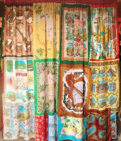 Recycled Scarf Memory Curtain from Places Traveled